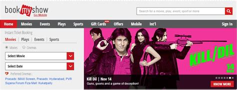 bookmyshow fun cinemas bookmyshow login book movie tickets online easily at www