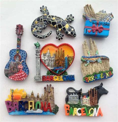 Souvenir Magnet Kulkas 1 barcelona gecko guitar letter 3d resin fridge magnets