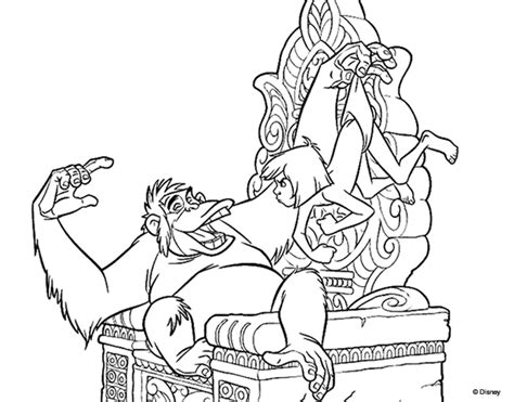 jungle book coloring pages king louie king louie coloring pages