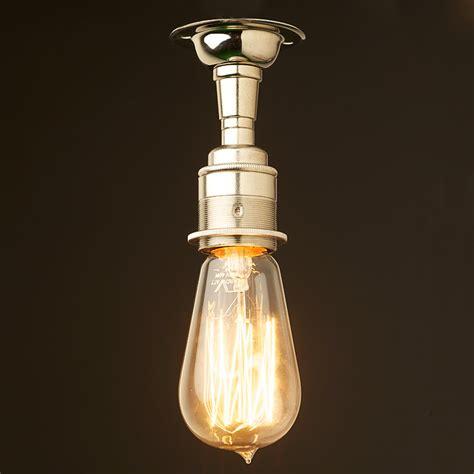 batten holder light fitting nickel batten holder edison e27 fitting
