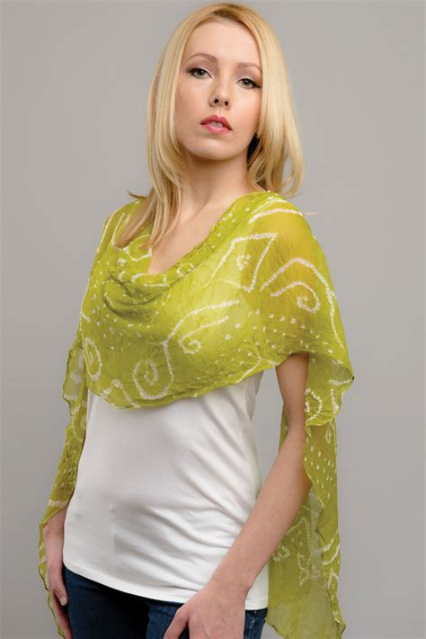 bandhani chiffon scarf sevya fair trade wholesale