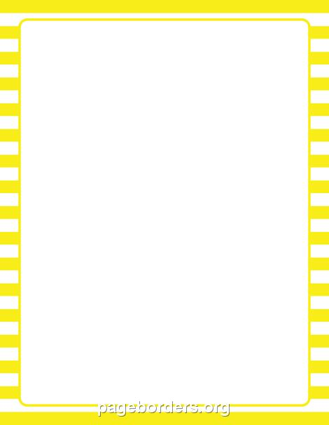White Border Striped printable yellow and white striped border use the border in microsoft word or other programs