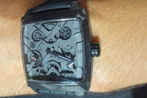 Tagheuer Monaco V4 Black tag heuer monaco v4 black phantom total design reviews