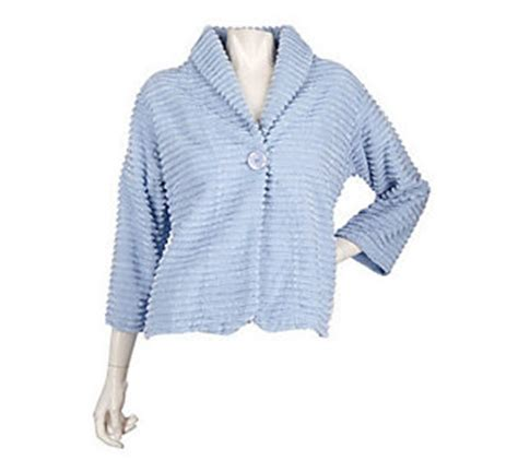 chenille bed jacket stan herman chenille bed jacket w shawl collar qvc com