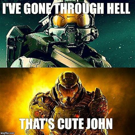 Doom Guy Meme - define quot hell quot p games pinterest awesome master