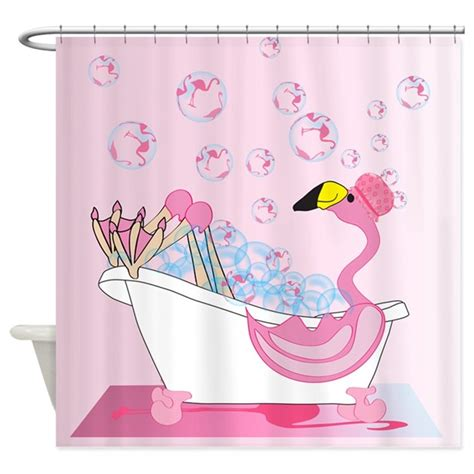 flamingos in bathroom bubble bath time flamingo shower curtain by naturessol