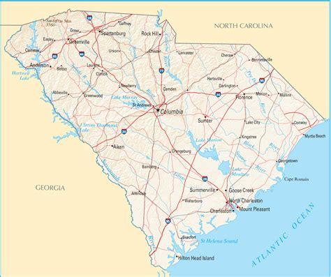 map of carolina south carolina map blank political south carolina map