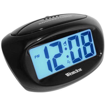 westclox lcd alarm clock walmart