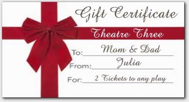 printable theatre vouchers purchase gift certificates for theatre three
