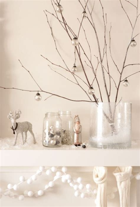 17 white and silver christmas decorations
