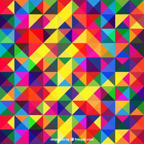 colorful background images colourful abstract background with triangles vector free
