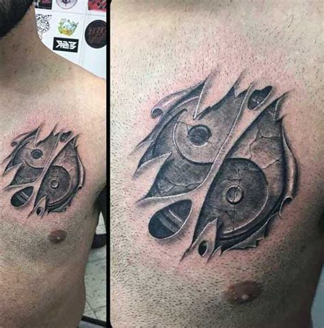 50 ripped skin tattoo designs 50 ripped skin tattoo designs for men manly torn flesh ink