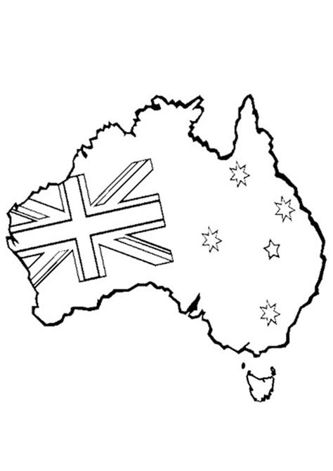 australian map coloring page australia day colouring pages for kids australian day
