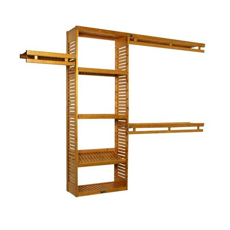 john louis home design tool john louis home 12 in deep simplicity closet system in honey maple shopyourway