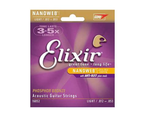 elixir light strings nanoweb acoustic 16052 12 53 light elixir strings