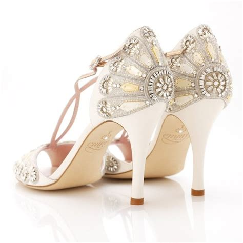 Art Deco Wedding Shoes   Deco Weddings