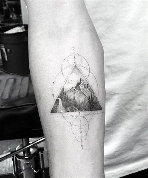 50 geometric mountain tattoo designs for men geometry