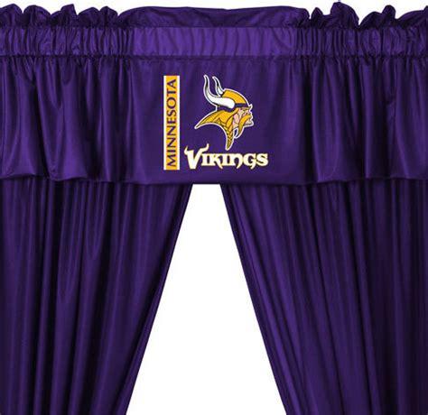 vikings curtains nfl minnesota vikings football 5 piece valance curtains