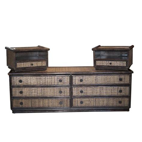 roche bobois maugrion rattan wicker bedroom set
