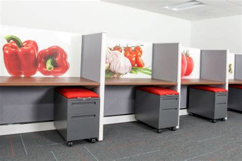 environmentally friendly office furniture refurbished eco friendly office furniture customized with fibermate graphics