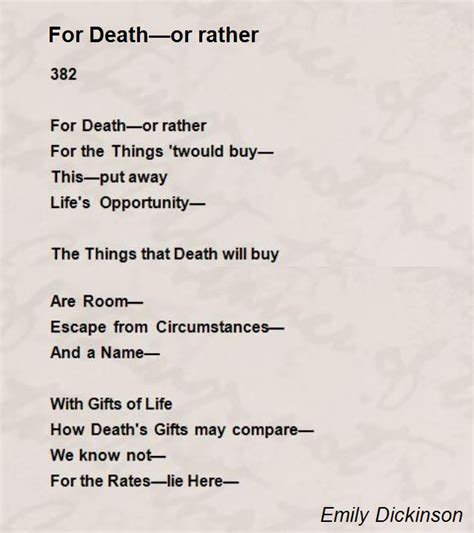 emily dickinson biography poetry foundation for death or rather poem by emily dickinson poem hunter