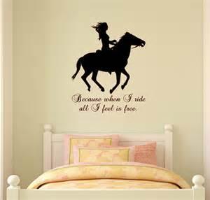 Tween Girls Bedroom Ideas horse wall decal horse quote sticker wall words girls teen