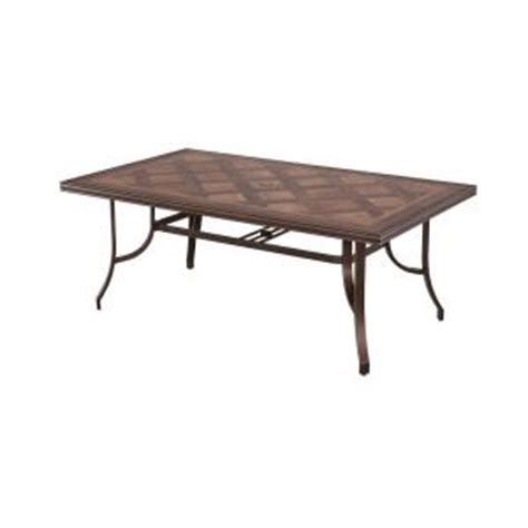 Hton Bay Pine Valley Rectangular Tile Top Patio Dining Home Depot Dining Table