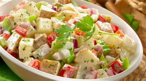 Pasta Salad Recipes With Italian Dressing Creamy Italian Potato Salad Wish Bone 174 Wish Bone 174
