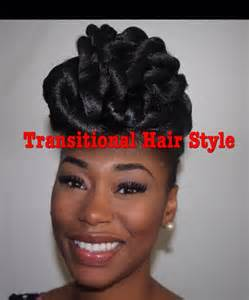 Transitioning From Relaxed To Natural Hair Styles - protective style hair updo for natural transitioning and relaxed hair chimerenicole youtube