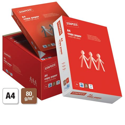 How To Make Copy Paper - staples a4 80 gsm copy paper white 5 ream box staples 174
