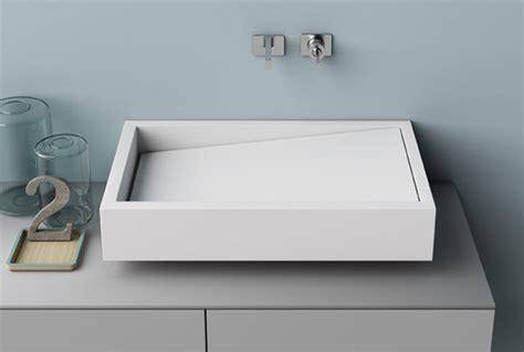 lavandini in corian lavabo rettangolare in corian lavabo con piano inclinato