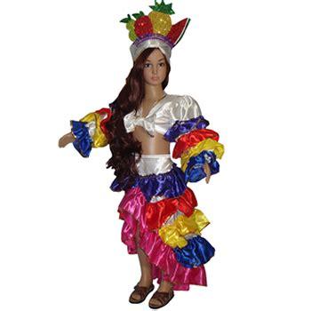 trajes de carnaval de fantasia para ni 241 as rumbera de olanes de colores elfamundi