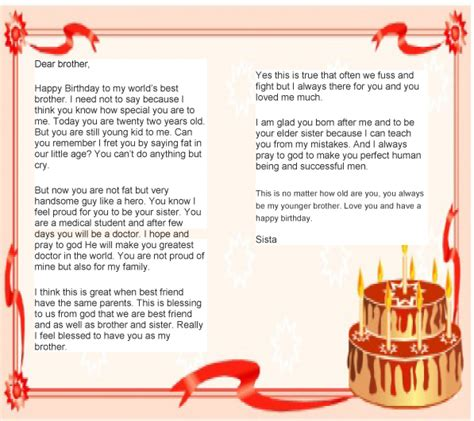 Letter For Birthday Birthday Letter To From Letter Birthday Letters Birthdays And