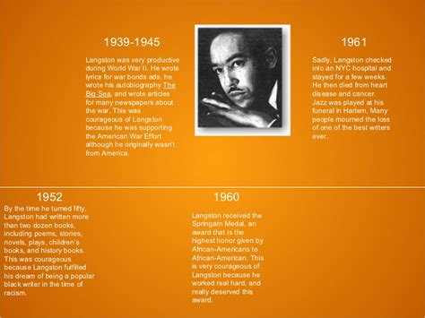 langston hughes biography timeline langston hughes courage project