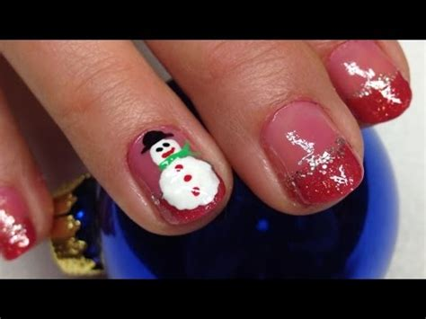 super easy nail art youtube christmas snowman nail art super easy and cute nails for