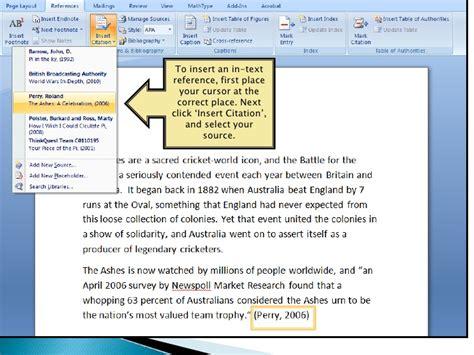 apa format in word 2007 apa referencing in microsoft word 2007