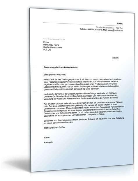 Bewerbung Neue Form anschreiben bewerbung produktionshelfer muster zum