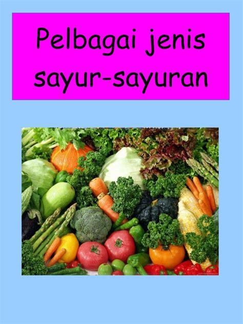 jenis jenis pelbagai jenis sayur sayuran