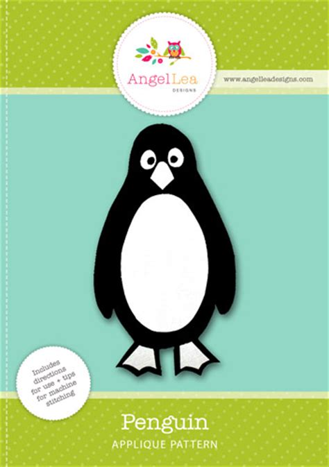 penguin applique robin applique template lea designs