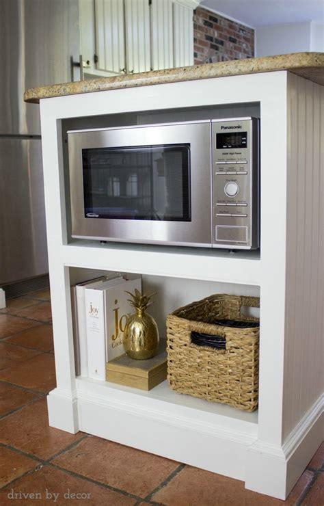 kitchen island  microwave  added  built