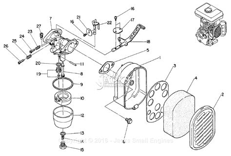 subaru robin carburetor robin subaru ew1403 carburetor parts diagrams robin