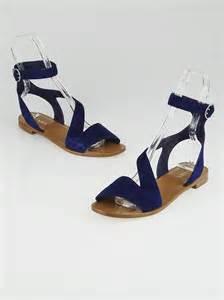 navy sandals flat prada navy blue suede ankle wrap flat sandals size 9 5 40