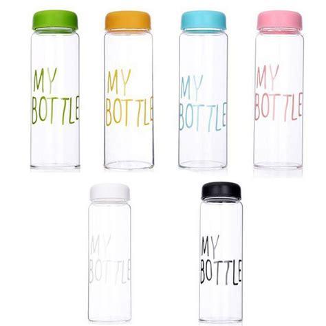 My Bottle 500ml new clear my bottle sport fruit juice water cup portable 500ml travel bottle ebay