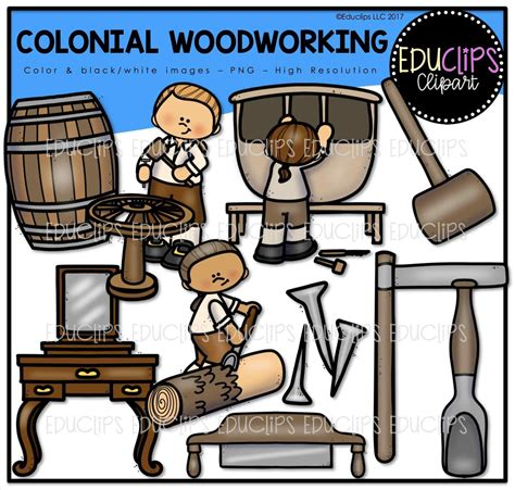 colonial woodworking on woodworking clipart paw vector free clip