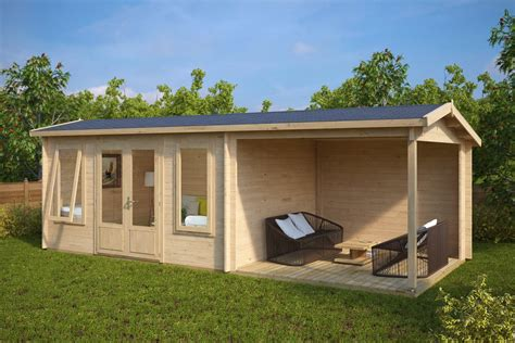 garden cabin garden log cabin with veranda d 12m 178 44mm 3 x 7 m