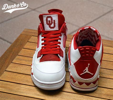Custom Handmade Shoes - oklahoma sooners air iv shoes by dank co