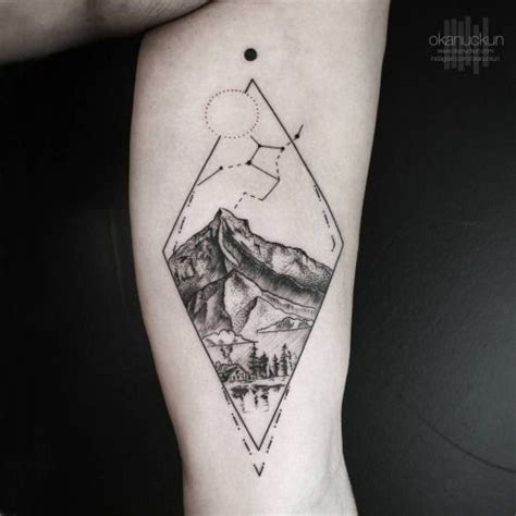 tattoo oriental paisagem triangle tattoo arm landscape stars google search