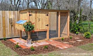 Easy Backyard Chicken Coop Plans Our Vintage Home Love Our New Coop