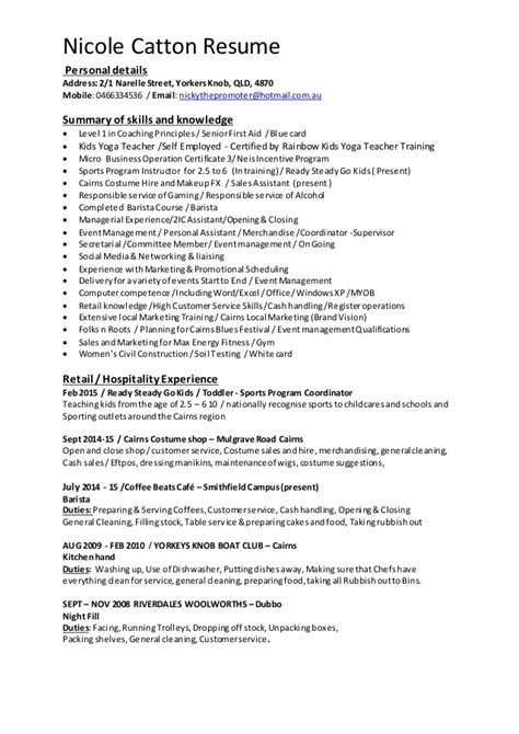 sle of resume for personal assistant nicks sales assistant resume july 2015