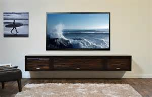Painting Upholstery Fabric Floating Tv Console Eco Geo Espresso